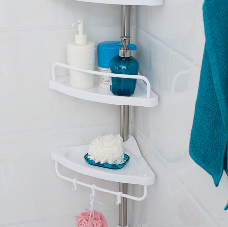 95 Myanmar Expandable Bathroom Tripod Corner Rack (CSR - 0068)