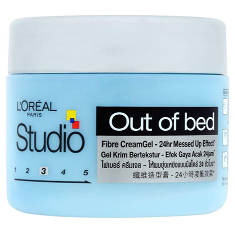 L'Oreal Paris Studio Hair Gel Out of Bed : Fibre Cream Gel 150ml