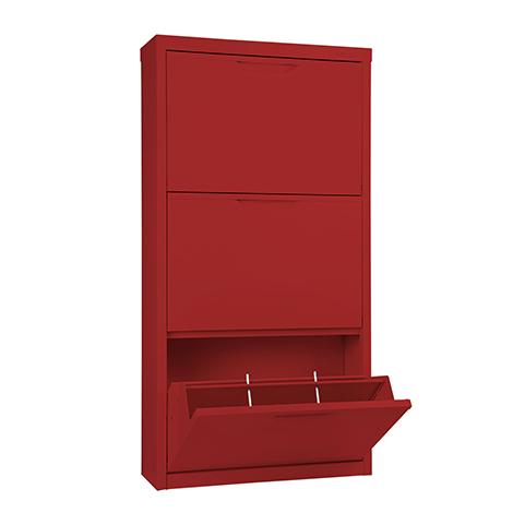 KIOSK 3 Swing Doors Shoe Cabinet ( SW-103 )