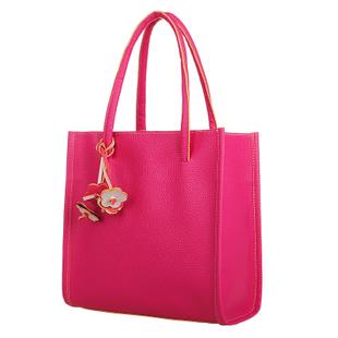 Korean Style Sweet Candy Retro Shoulder Handbag Hot Pink (HSC555)