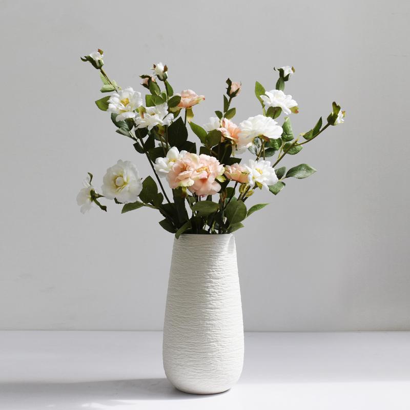 NICCO Oval Pure White Ceramic Flower Vase ( VSC-04 )
