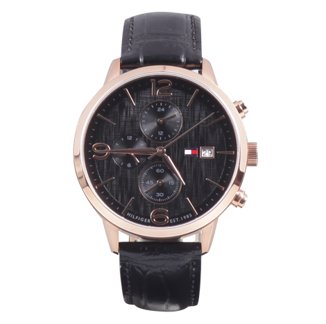 HBT Tommy Hilfiger Leather Male Watch (TH1710358-00-M)