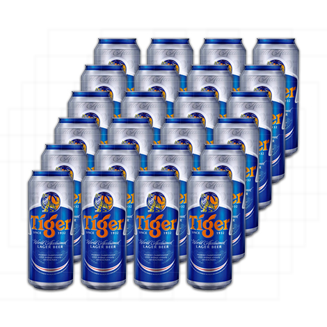 Tiger Beer Can (500ml) - 24 Cans per Case