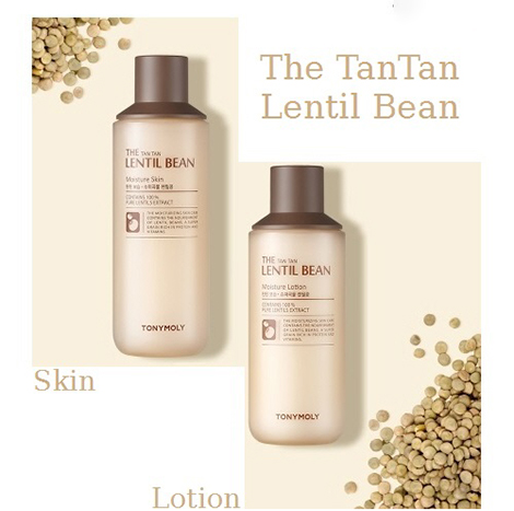 Tonymoly The TanTan Lentil Bean Moisture Set Skin 180ml + Lotion 160ml (TMS-18)