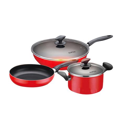 SUPOR Cookware Nonstick Stainless Steel 3 Piece Pot Set (TP1501E)