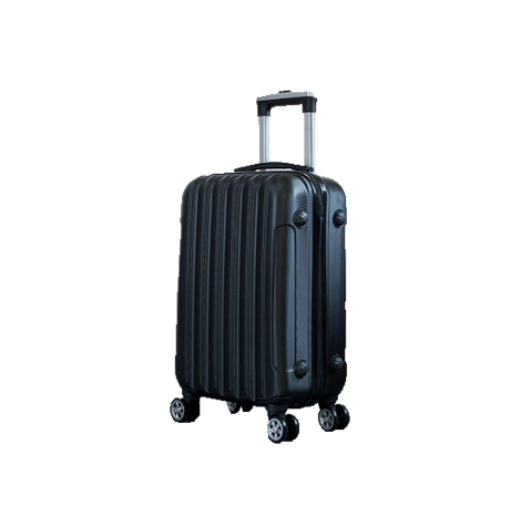 "20"" Inch Cabin Check in ABS Classic Stripe Universal Wheel Password Lock Trolley Luggage (Model: TSC806)"