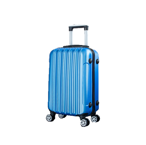 """ABS Classic Striped 360 Universal Wheel Trolley Luggage Suitcase- 24INCH (TSC806 24"""")"""