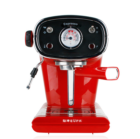 EUPA Pump Pressure Type Semi Automatic Coffee Machine Red Black ( TSK-1163A )