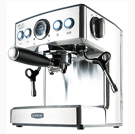 EUPA Pump Pressure Type Semi Automatic Coffee Machine Silver ( TSK-1837B )
