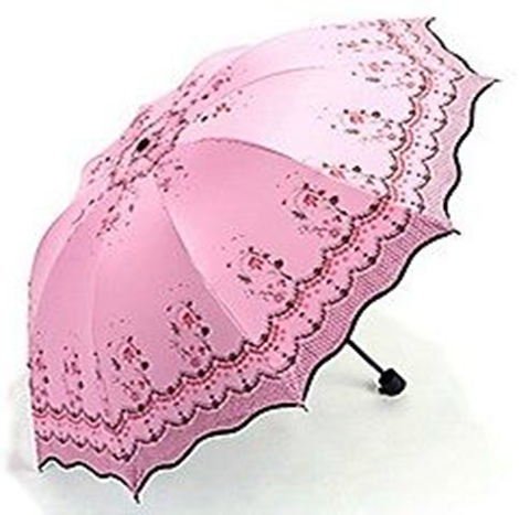 First Place Umbrella (Lotus Leaf Lace) Rose Red