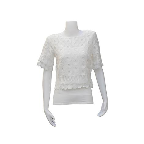 VKK Lace White Blouse ( TR7260 )