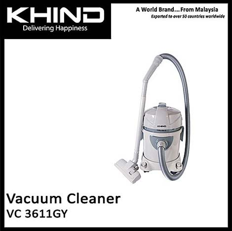 KHIND Vacuum Cleaner 23Liters( VC 3611GY )