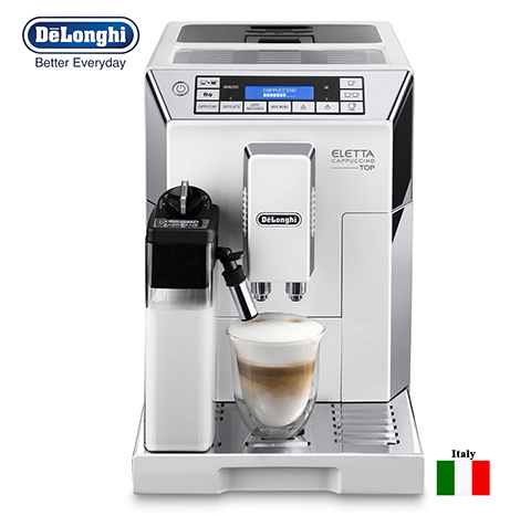 DeLonghi Eletta Cappuccino Top Fully Automatic Bean to cup Coffee Machine (ECAM 45.760.W)