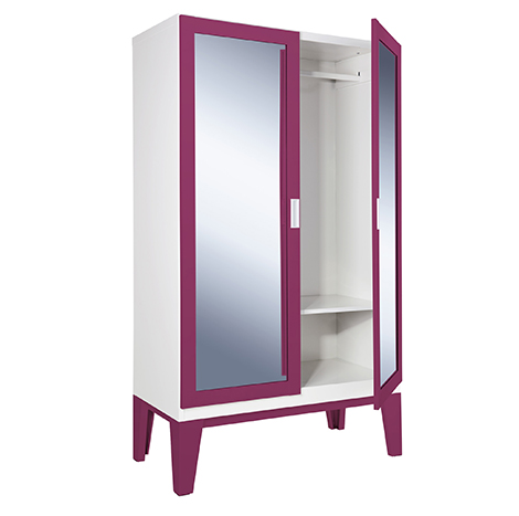 KIOSK Open Glass Door Wardrobe - High ( WD-02 )