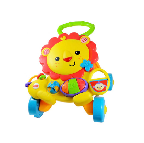 Fisher lion walker baby learning to walk four-wheeled trolley music early education 1-3 years old children's toys ( Y9854 )