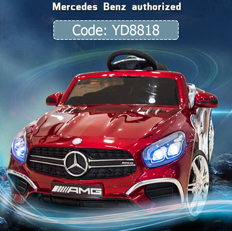 Mercedes-Benz Licensing Children's 1-4 YRS Electric Four-wheeled 12V7AH Battery car with Music LED ligh remote control ( YD8818-R )