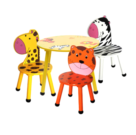 Kindergarten Children's Animals Zoo Table & Chairs Set ( ZOOF201608 )
